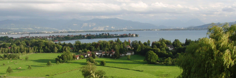 Lindau am Bodensee vom Hinterland aus betrachtet