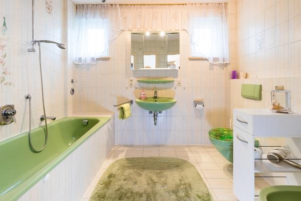 Ferienwohnung im EG: Erdgeschoss - Bad & WC. Haus Christine am Vogelsang, Ferienwohnungen in Lindau am Bodensee.