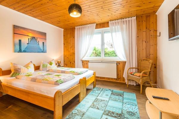 Ferienwohnung im EG: Erdgeschoss - Schlafzimmer. Haus Christine am Vogelsang, Ferienwohnungen in Lindau am Bodensee.