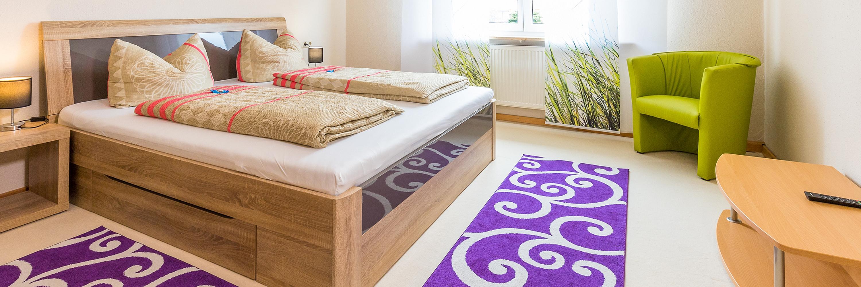 Ferienwohnung im OG: 1. Obergeschoss - Schlafzimmer. Haus Christine am Vogelsang, Ferienwohnungen in Lindau am Bodensee.
