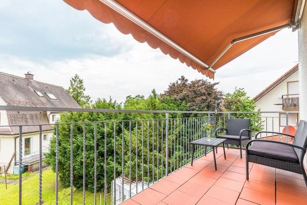 Ferienwohnung im OG: 1. Obergeschoss - Balkon. Haus Christine am Vogelsang, Ferienwohnungen in Lindau am Bodensee.
